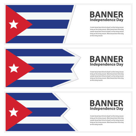cuba flag: cuba Flag banners collection independence day