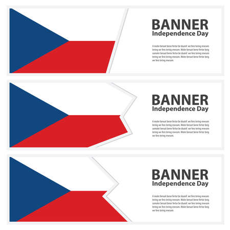 czech republic flag: czech republic Flag banners collection independence day