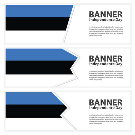 estonia: estonia Flag banners collection independence day Illustration