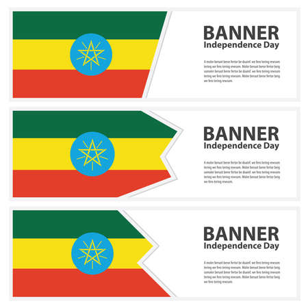 ethiopia  flag: ethiopia Flag banners collection independence day