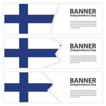 finland flag: finland Flag banners collection independence day Illustration