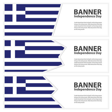 greece flag: greece Flag banners collection independence day