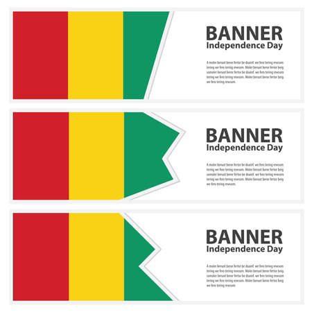 bissau: guinea bissau Flag banners collection independence day Illustration
