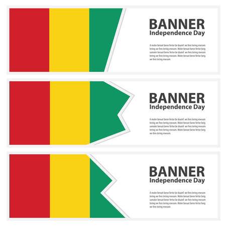 guinea bissau: guinea bissau Flag banners collection independence day Illustration