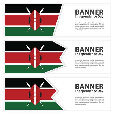 kenya: Kenya Flag banners collection independence day