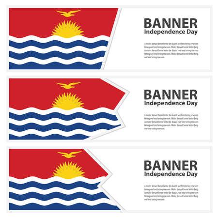 kiribati: Kiribati Flag banners collection independence day