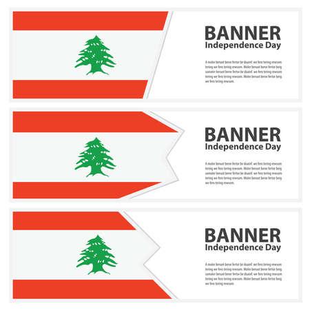 lebanon: Lebanon Flag banners collection independence day