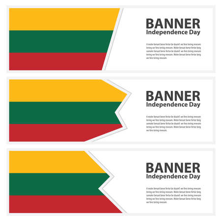 lithuania flag: lithuania Flag banners collection independence day Illustration