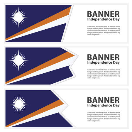 marshall: Marshall Islands Flag banners collection independence day Illustration