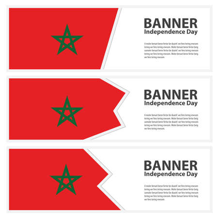 morocco: morocco Flag banners collection independence day