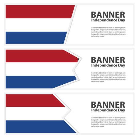 netherlands flag: netherlands Flag banners collection independence day Illustration