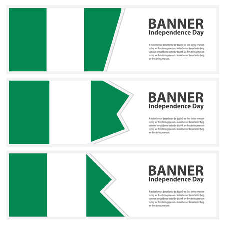 nigeria: nigeria Flag banners collection independence day Illustration