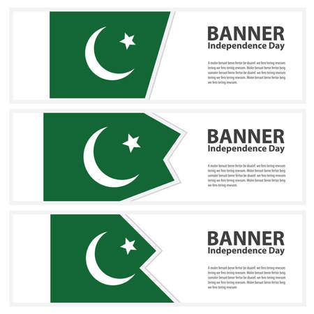 pakistan flag: pakistan Flag banners collection independence day Illustration
