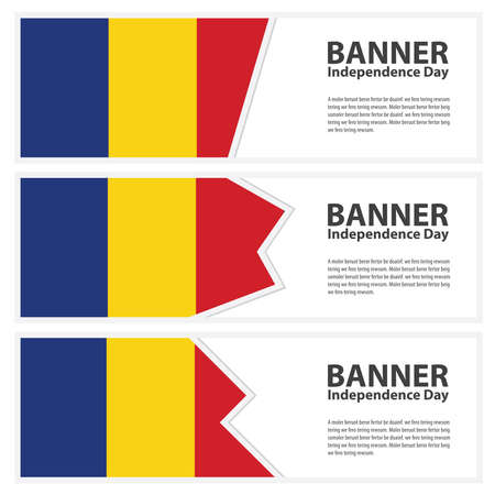 romania flag: romania Flag banners collection independence day