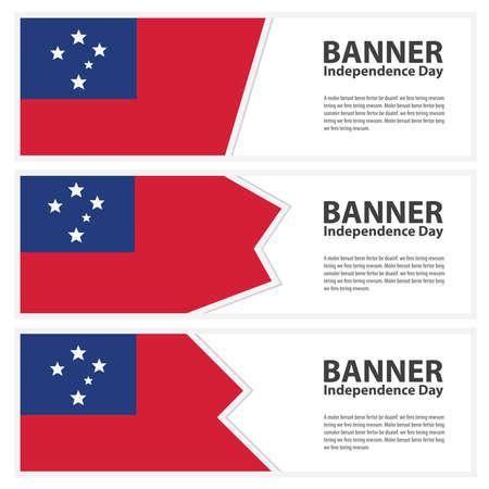 samoa: samoa Flag banners collection independence day Illustration