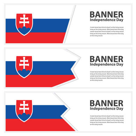 slovakia flag: Slovakia Flag banners collection independence day