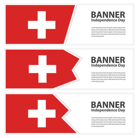 switzerland flag: switzerland Flag banners collection independence day Illustration