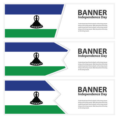 lesotho: Lesotho Flag banners collection independence day