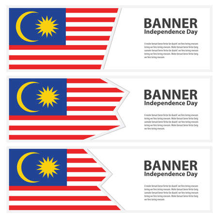 Malaysia Flag banners collection independence day