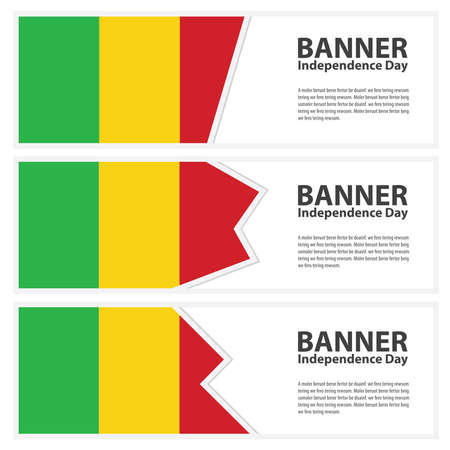 mali: mali Flag banners collection independence day Illustration