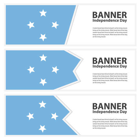 micronesia: micronesia Flag banners collection independence day Illustration