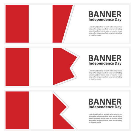 bandera de peru: Bandera de Perú Banderas de día de la independencia colección Vectores
