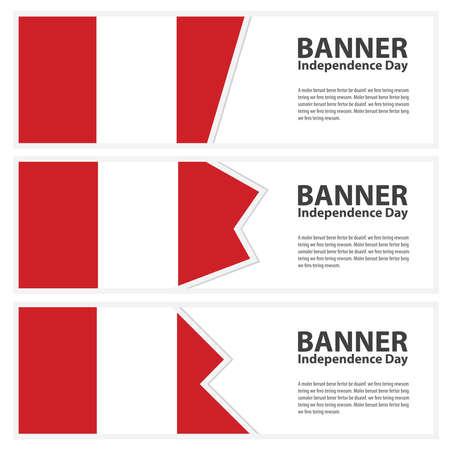 bandera peru: Bandera de Per� Banderas de d�a de la independencia colecci�n Vectores