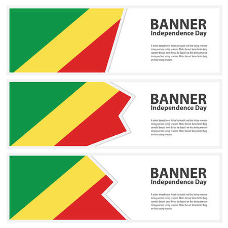 Congo: republic of the congo Flag banners collection independence day