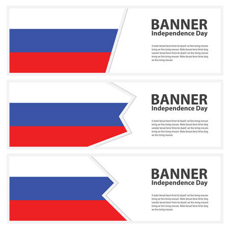 russia flag: russia Flag banners collection independence day