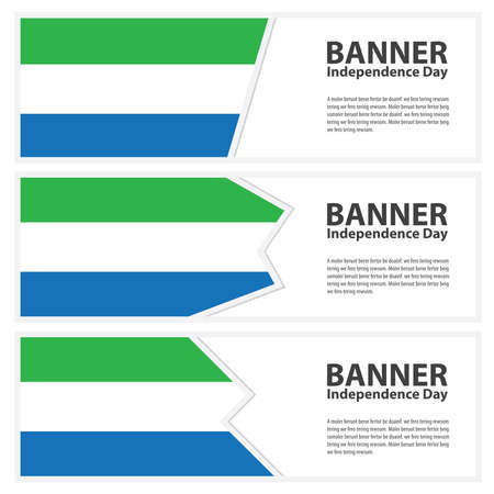 sierra: sierra leone Flag banners collection independence day