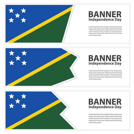 solomon: solomon islands  Flag banners collection independence day Illustration