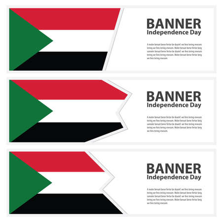 sudan: sudan Flag banners collection independence day Illustration