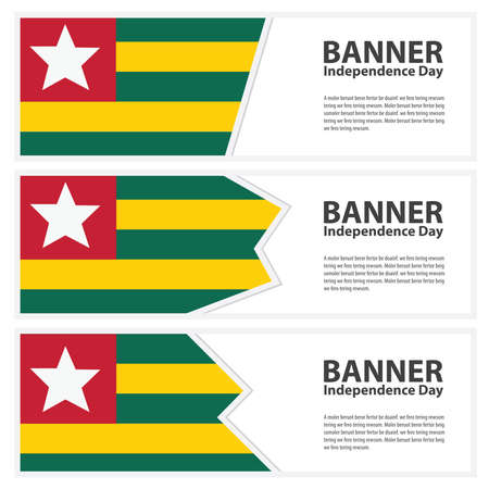 togo: togo Flag banners collection independence day