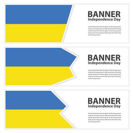 ukraine flag: ukraine Flag banners collection independence day Illustration