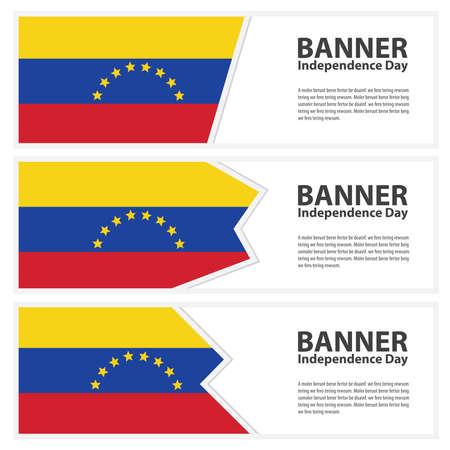 venezuela flag: venezuela  Flag banners collection independence day Illustration