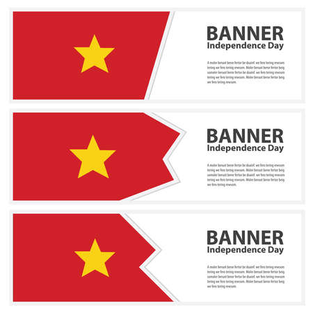 vietnam flag: vietnam Flag banners collection independence day Illustration