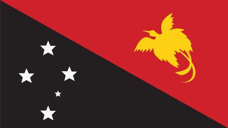 papouasie: Drapeau Papouasie-Nouvelle-Guin�e pour la Journ�e de l'Ind�pendance et infographie Vector illustration.