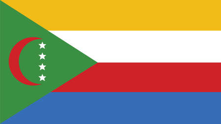 comoros: comoros Flag for Independence Day and infographic Vector illustration. Vectores
