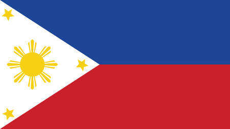Philippines Flag for Independence Day and infographic Vector illustration.