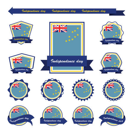 tuvalu: Tuvalu independence day flags infographic design