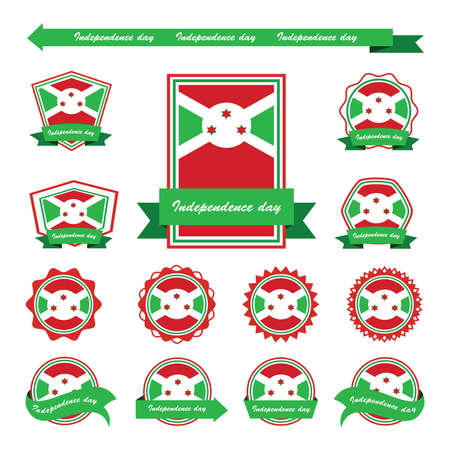 burundi: burundi independence day flags infographic design