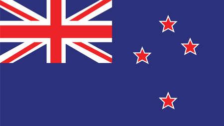 Bandera de Nueva Zelanda para el Día de la Independencia y la ilustración vectorial infografía.