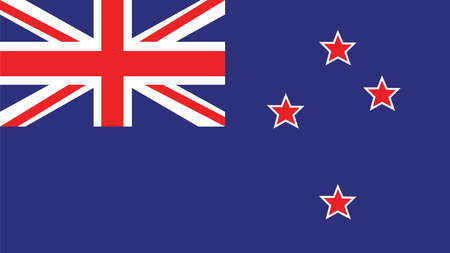 Nieuw-Zeeland Vlag voor Independence Day en infographic Vector illustratie.