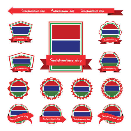 gambia: gambia  independence day flags infographic design