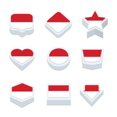 monaco: monaco flags icons and button set nine styles