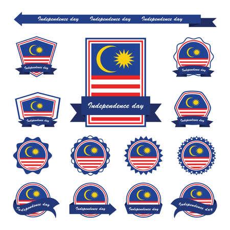 Malaysia-Unabhängigkeitstag-Flaggen-Design Infografik Standard-Bild - 45017981