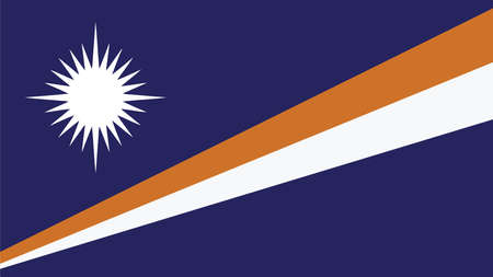 marshall: Marshall Islands Flag for Independence Day and infographic Vector illustration.