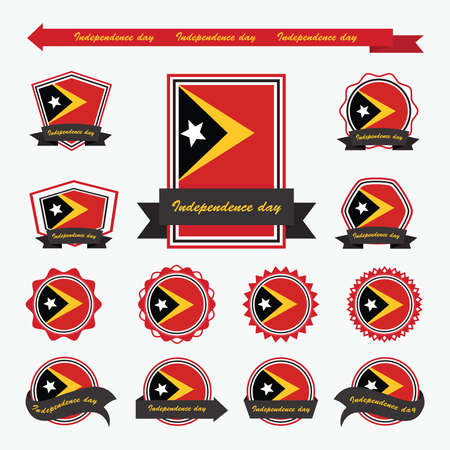 east: east timor independence day flags infographic design