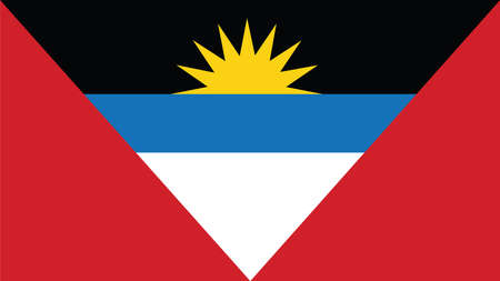barbuda: antigua and barbuda Flag for Independence Day and infographic Vector illustration.