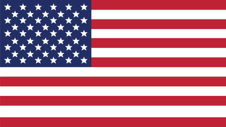 forth: united states of american  Flag for Independence Day and infographic Vector illustration.